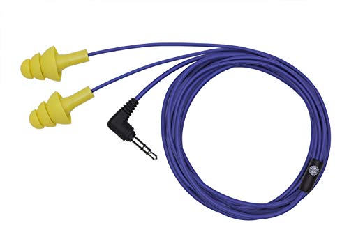 Plugfones Basic Earplug-Earbud Hybrid - Blue Cable/Yellow Plugs