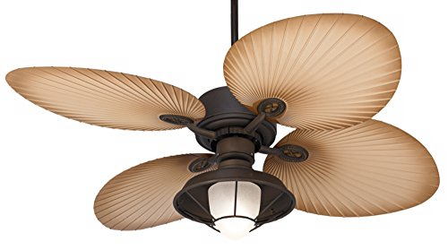 52″ Casa Vieja Aerostat Wide Palm Bronze Outdoor Ceiling Fan For Sale