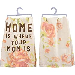 Home Is Where Your Mom Is Floral Decorative Hand Towel