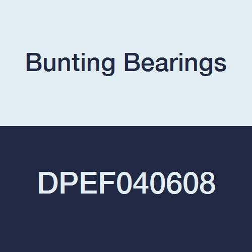Bunting Bearings DPEF040608 Dri Plane (C) Flange Bearings, Powdered Metal, 1/4