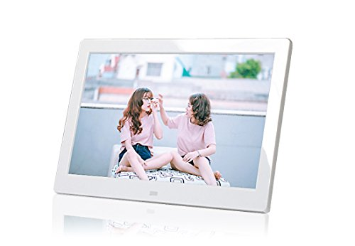PF8050IPS 8inch IPS panel Digital Photo Frame High resolution - Photo, music, video, clock, calendar functions (White)