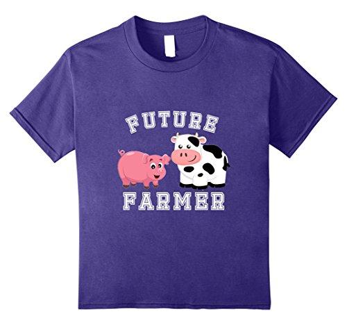 unisex-child Future Farmer Community Helper Costume T-Shirt 8 Purple
