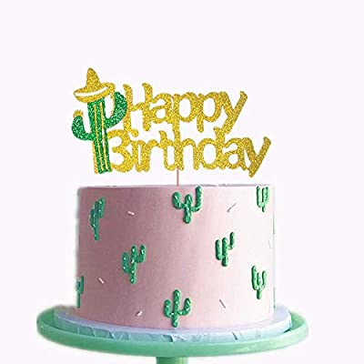 Awe Inspiring Jevenis Cactus Happy Birthday Cake Topper Cactus Cake Topper Personalised Birthday Cards Beptaeletsinfo