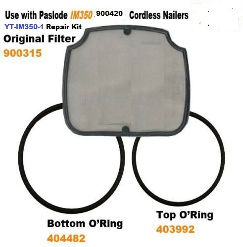 Paslode IM350 Cordless Nailer O'ring and Filter kit YT-IM350