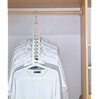 WHOLE MART® Wardrobe Space Saver Folding Hangers,Hangers for Clothes Wardrobe,1 Pack Anti-Skid Plastic Magic Clothes Hanger - 360º Swivel Hook - 9-Holes Design Closet Organiser Hanger Pack of 1