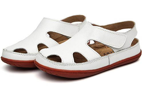 Pictures of DADAWEN Girl's Boy's Summer Leather White 1 M US Little Kid 4