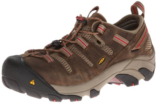 KEEN Utility Women's Atlanta Cool Steel Toe Shoe,Shitake/Chili Pepper,7.5 M US