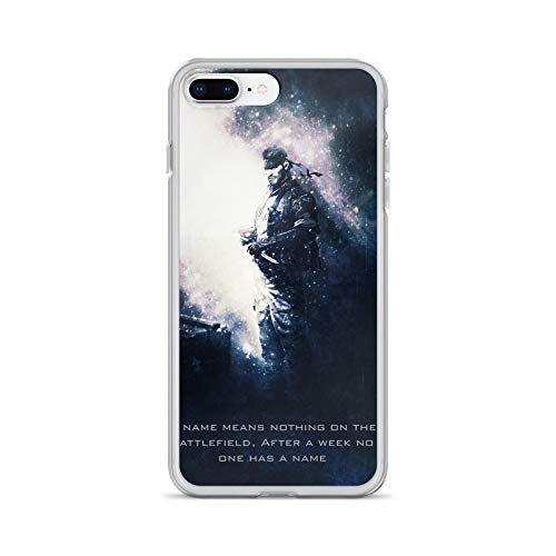 iPhone 7 Plus/8 Plus Case Anti-Scratch Gamer Video Game Transparent Cases Cover Snake Metal Gear Solid Tagline Gaming Computer Crystal Clear