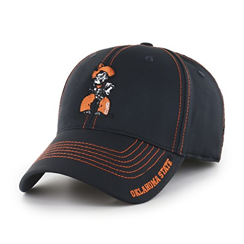 NCAA Oklahoma State Cowboys Adult Start Line Ots Center Stretch Fit Hat, Large/X-Large, Black (Oklahoma State Cowboys Basketball)