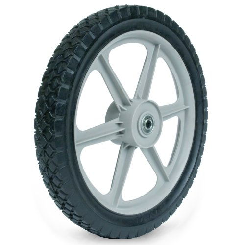 Martin Wheel PLSP14D175 14 by 1.75-Inch Plastic Spoke Semi-Pneumatic Wheel for Lawn Mower, 1/2-Inch Ball Bearing, 2-3/8-Inch Centered Hub, Diamond - Lawn Wheel Mower Plastic