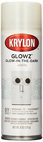 Krylon K03152007 Glowz Glow-in-The-Dark Paint, White, 6 Ounce]()