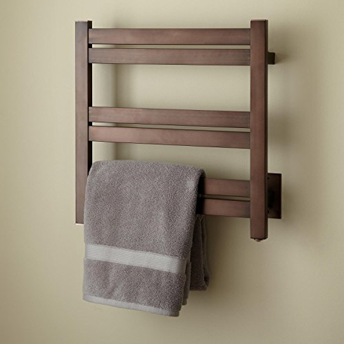 "high-quality Naiture 20"" Stainless Steel Hardwired Towel Warmer Oil Rubbed Bronze Finish"