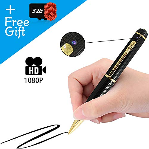 Gadgets 1080p HD Hidden Camera Pen Recording 32GB SD Micro Card, Business Investigation Portable Educational Professional Device