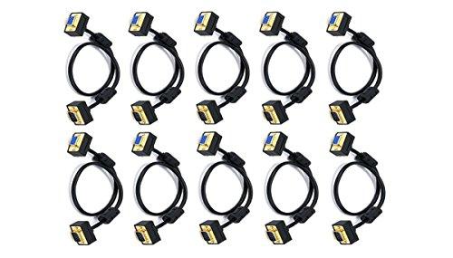 C&E 10 Pack Ultra Slim SVGA Super VGA 30/32AWG M/F Monito...