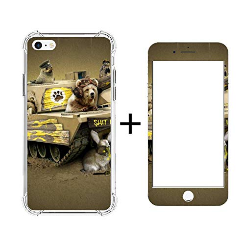 Kelly Heroes Tank Dog Mobile Phone Shell+Tempered Glass Case - Protective Anti-Scratch 5.5