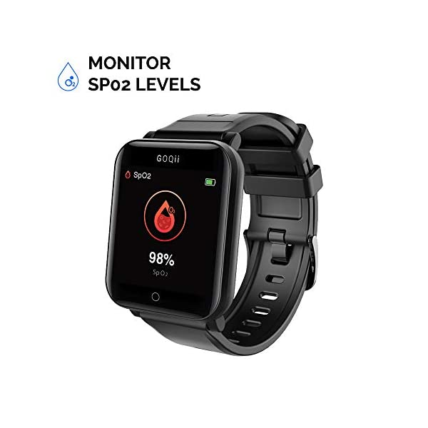 41uurlzDU L GOQii Smart Vital Fitness SpO2, body temperature and blood pressure tracker with 3 months personal Coaching