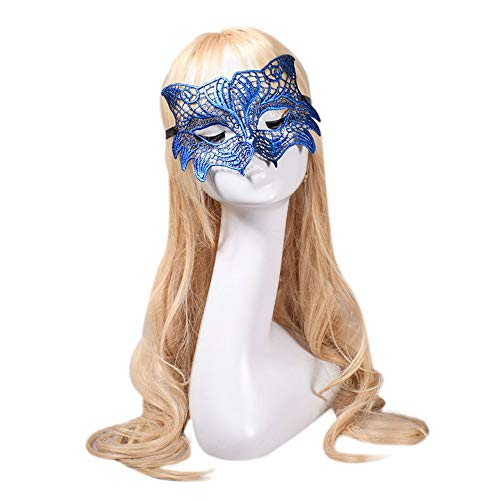Yu2d  Masquerade Lace Mask Catwoman Halloween Cutout Prom Party Mask Accessories -