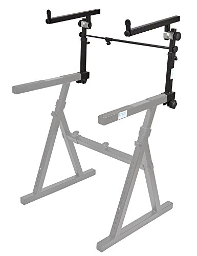 Knox Second Tier for Z Keyboard Stand - Detachable 2nd Level for Knox Z Style Piano Stand - Adjustable Height and Width(Stand Sold Separately)