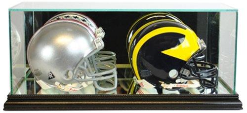NFL Double Mini Football Helmet Glass Display Case, Black - Double Football Display Case