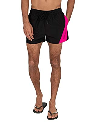 Calvin Klein Men's Short Drawstring Swim Shorts, Black, M