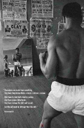 Muhammad Ali Reflection Boxing Sports Quote Poster 24 x 36 i