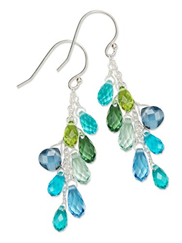 - Holly Yashi Lorelei Cluster Earrings, Hypoallergenic Jewelry, Made in California (Aqua)