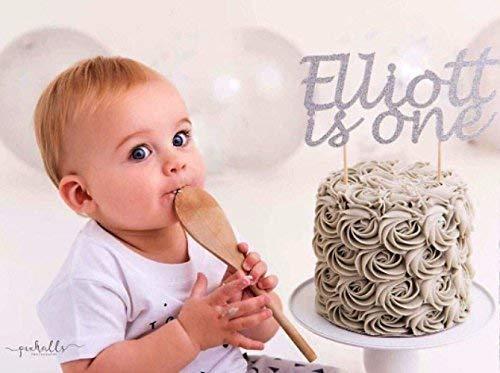 Pleasant First Birthday Boy Glitter Cake Topper Party Decoration Custom Funny Birthday Cards Online Inifofree Goldxyz