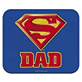 Superman Super Dad Shield Logo Low Profile Thin Mouse Pad Mousepad