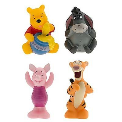 Disney Set of 4 Winnie the Pooh Character Pool Bath Toys Including Tigger Eeyore Piglet and Pooh [並行輸入品]   B01K1UNTAQ