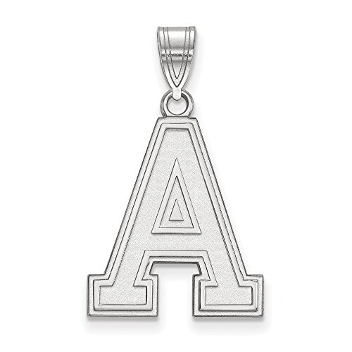 - Jewelry Stores Network USMA West Point Army Black Knights School Letter Logo Pendant in Sterling Silver L - (21 mm x 17 mm)