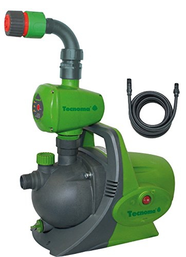 Tecnoma Gartenpumpen T800 K7 Automatic -800 W, 3600 L/St, 4,2 Bar, Max. Ansaugtiefe 7 Meter, Inkl. wasserzufuhr Sensor. Automatisch ein/aus Schalter, Mehrfarbig