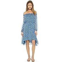 Diane Von Furstenberg Womens Camila Silk Printed Casual Dress