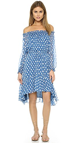 Diane von Furstenberg Women's Camila Dress, Dotted Batik Blue, (Dotted Batik)