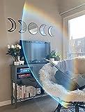 G.Dori Moon Phase Mirror Set (5 PCS), Real Glass