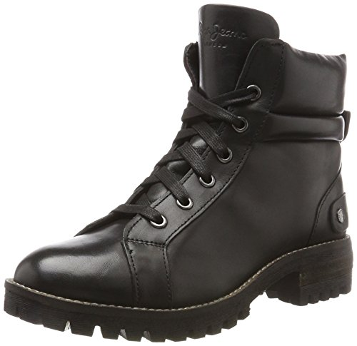 Pepe Jeans London Damen Hellen Laces Stiefel Schwarz (Black)