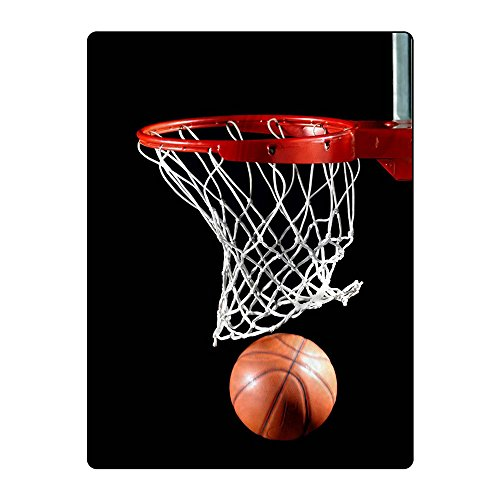 FAITOVE Basketball Printing Velvet Plush Throw Blanket for Couch Sofa or Travelling 60