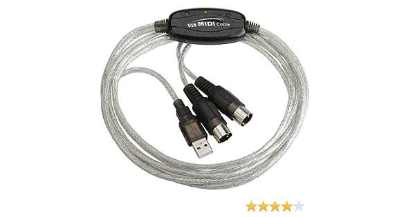 Xiton 6 pies USB para Teclado Midi Cable Adaptador convertidor de Interfaz: Amazon.es: Electrónica