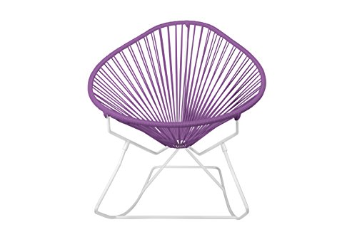 Innit Designs i03-02-12 Acapulco Rocking Chair Orchid Weave on White Frame, Black (Toronto Chair Frames)