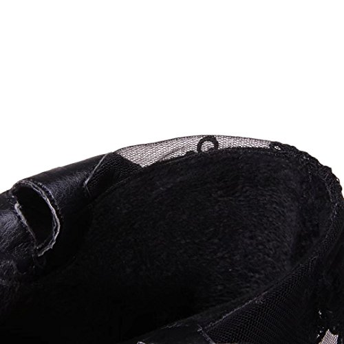 AIYOUMEI Women's Classic Boot Black 8uy0fnrcwX