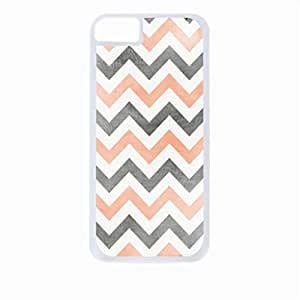 Scratched Chevron- Case for the Apple Iphone 6-Hard White Plastic Outer Shell