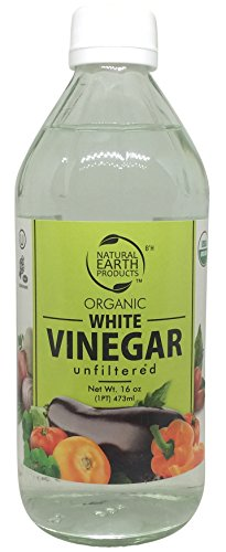 Organic White Vinegar Unfiltered - 100% USDA Certified Organic - Best For All Household Needs and Beyond - Certified Kosher NET. 16 oz. - By Natural Earth ()