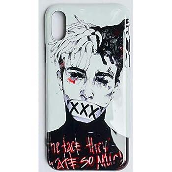 the best attitude c9acd 50457 iPhone X/10 Case, RIP Long Live Xxxtentacion Tribute Slim Durable Soft TPU  Case for Apple iPhone X (XXX White Face)