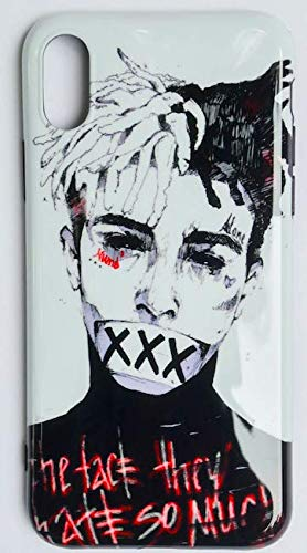the best attitude 977af 2da6d iPhone X/10 Case, RIP Long Live Xxxtentacion Tribute Slim Durable Soft TPU  Case for Apple iPhone X (XXX White Face)