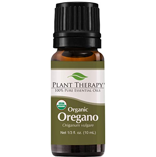 Plant Therapy Oregano Organic Essential Oil | 100% Pure, USDA Certified Organic, Undiluted, Natural Aromatherapy, Therapeutic Grade | 10 milliliter (1/3 ounce)