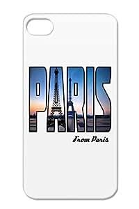 Pariseiffelphoto 2 Cities France Countries Paris Eiffel Tower Navy For Iphone 4 TPU Case