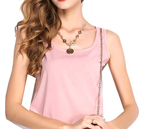 Comfy-Women Candy Basic Sling Chiffon Sleeveless T-Shirt Tank Top Tees Pattern1 2XL
