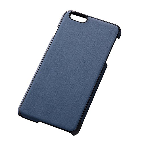 Open Type Texture Leather Style Jacket for iPhone 6 Plus (Hairline Dark Navy)