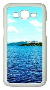 Samsung Galaxy Grand 2 Case - Blue Skies PC Hard Case Cover For Samsung Galaxy Grand 2 / Samsung Galaxy 7106 - White