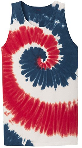 Koloa Colorful Tie-Dye Tank Top-USA-L (Red White And Blue Tie Dye Tank Tops)