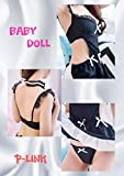 P-LINK Kwaii Women Sexy See Through Outfit Lingerie Maid Clothes Costume Babydoll (White) Pants Large Piece Long Sleeve Loose Skirt Separate Down Halter Neck Ladies Shorts Pts Cheapest Short Sleeved